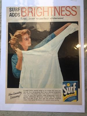 694 アメリカ ビンテージ 広告 チラシ 50s インテリア surf