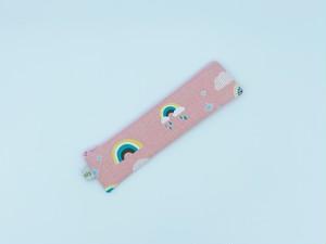 ミニペンケース・かぎ針ケース♪レインボー♪ピンク