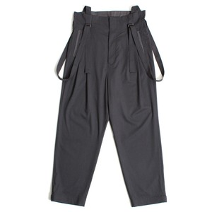 High waist Suspenders Pants - Gray <LSD-AH1P4>