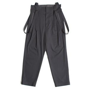 High waist Suspenders Pants - Gray <LSD-AH1P4>