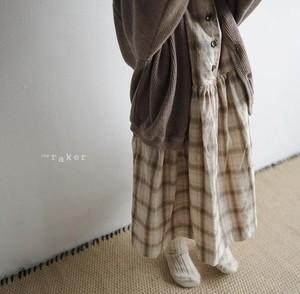 2way check ops  2wayチェックワンピース 80~100 韓国子供服ワンピース raker 子供服80 子供服90 子供服100  OP0027