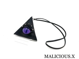 cat eye triangle coin case / purple