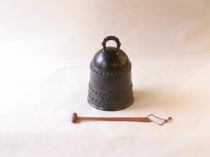 高岡銅器 彦兵衛 作 喚鐘(かんしょう) 砂張 撞木(しゅもく)付
