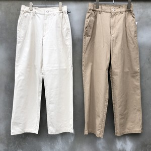 "KIIT ""20/2 light canvas side gather easy trousers"""