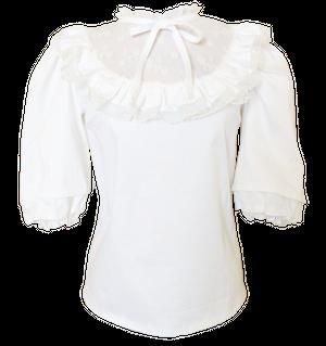 Mademoiselle blouse whiteマドモワゼル ブラウス ホワイト