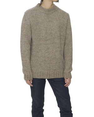 LOW GAUGE CREW NECK KNIT - BEIGE