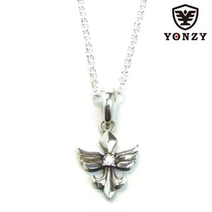 YONZY Phoenix Necklace  SV small ホワイトトパーズ