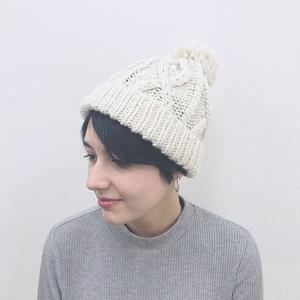 ローゲージワッチ・ニット帽 / アイボリー