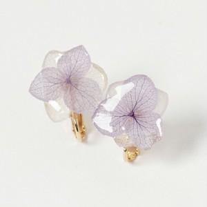 ひとひら紫陽花ピアス*パープルホワイト*PC004