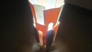 木と深山和紙が織りなすやわらかな灯り 木製 テーブルランプ   No.   026