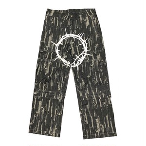 ILL IT - CIRCLE 2WAY DENIM PANTS (BLACK)