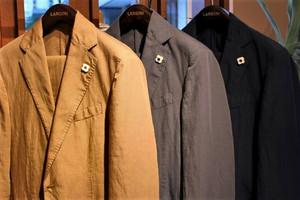 LARDINI Cotton×Flax Suit
