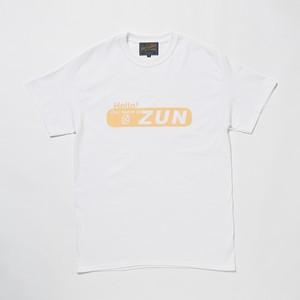 """ZUN """"ずん"""" TEE  WHITE x CREAM"""
