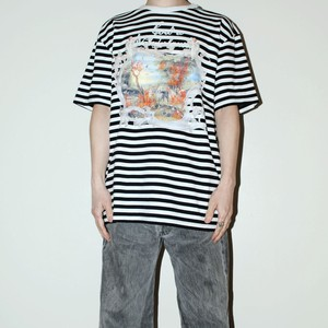 『WU JIU PLEASE』 Eden stripe T-shirt