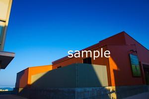 オレンジと青のやさしさ【写真データDSC08250S】
