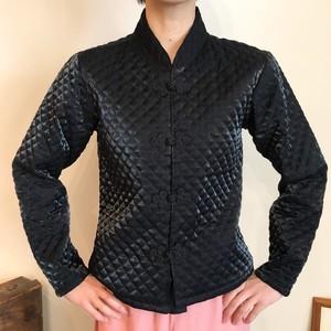 チャイナ キルティングジャケット ブラック