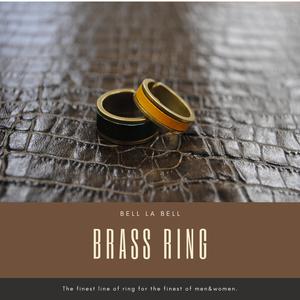 belllabell  ペアアクセサリー イタリアンレザー ブッテーロ レザー 真鍮リング 指輪  メンズ レディース 指輪 日本製