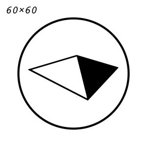 Symbol Logo Sticker(small 60×60)