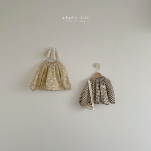 【予約販売】flowerーcheck blouse〈aladin kids〉※サイズ注意