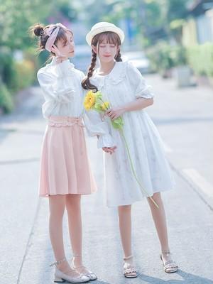 花柄 シフォンワンピース