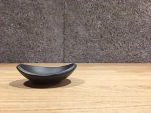 信楽焼 楕円鉢 豆 (とび茶)