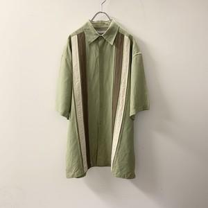MONTE CARLO ラミー/レーヨン シャツ ライトグリーン size M メンズ 古着
