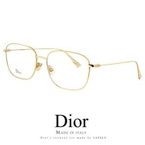 Dior メガネ stellaire013-j5g 眼鏡 ディオール Christian Dior スクエア メタル ゴールド