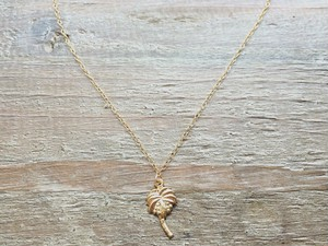 "14kgf necklace""palmtree"""
