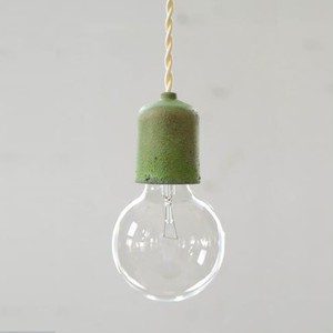 Socket Lamp Brass Patina|真鍮緑青