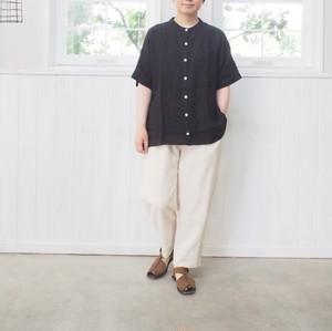 2020年4月末入荷予定【 YAMMA 】リネンスタンドカラーシャツ(袖付き)LSC-SH-SD-10 ヤンマ産業