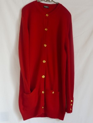 CHANEL Cashmere Cardigan RED