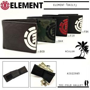 AI022-985 エレメント 財布 人気 ブランド 旅行 プレゼント ギフト メンズ カーキ 茶 黒白 黒赤 合皮 フェイクレザー 柄 ELEMENT
