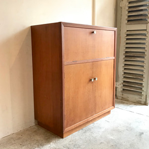 Dutch Vintage Oakwood Cabinet 50's オランダ