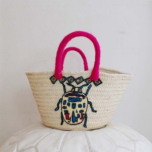 beetle embroidered basket