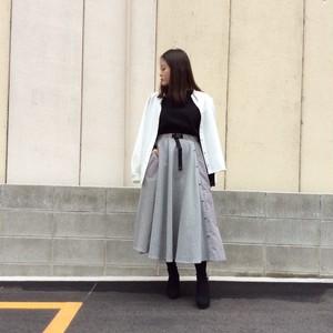 JOYMAKER/異素材フレアースカート(2019ssご予約商品)