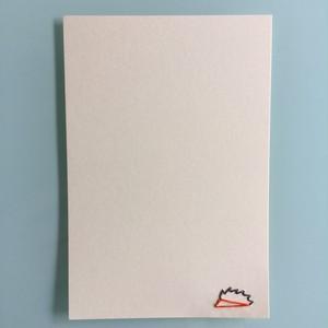 刺繍ポストカード(ハリネズミ)