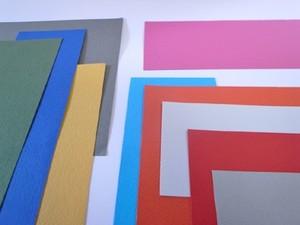 端紙 四角い紙(マーメイド160kg) 色厚紙 大小セット