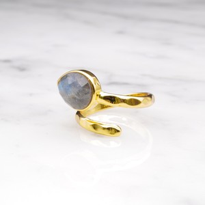 SINGLE STONE OPEN RING GOLD 028