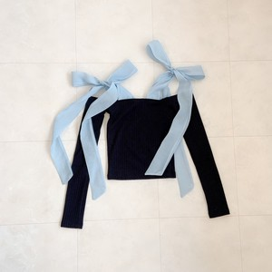 shoulder ribbon tops
