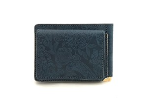 RE.ACT Paisley Indigo Money Clip Wallet