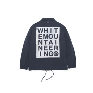 LOGO PRINTED COACH JACKET - NAVY