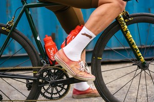 TEAM DREAM BICYCLING TEAM / Dream Supreme Socks(WHITE/BROWN CAT)