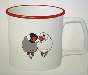 文鳥さんマグカップ #レッド