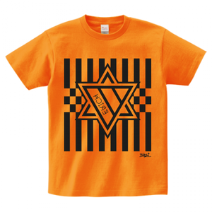 ERICH / HEXAGRAM STRIPE T-SHIRT ORANGE
