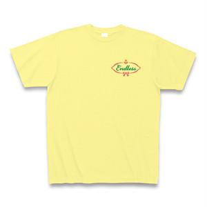 Endless☆ロゴTシャツ(メンズ・ライトイエロー)