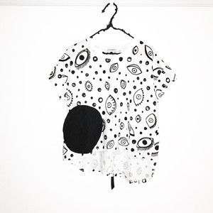E/G SWITCHING DOTS TEE / WOMEN