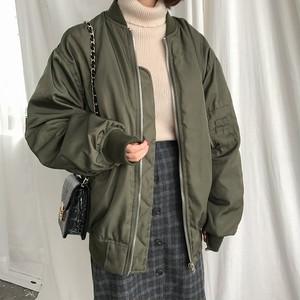 【アウター】ファッションストリート系ファスナー無地ラウンドネックジッパースタジャンジャケット23116000