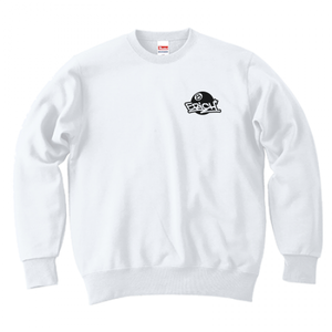 ERICH / ONEPOINT EIGHT-BALL LOGO CREWNECK SWEAT WHITE