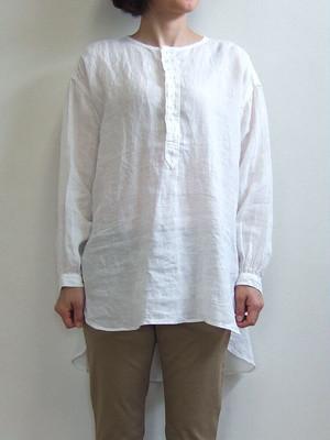 Brocante カンパーニュシャツ ホワイト 36-172L 31-8 ブロカント ブラウス 麻 リネンキャンバス リネン ドミンゴ MadeinJAPAN 日本製