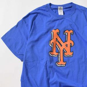 【XLサイズ】NY Mets Big Logo ニューヨークメッツ ビッグロゴ TEE 半袖Tシャツ BLU ブルー XL 400601191029